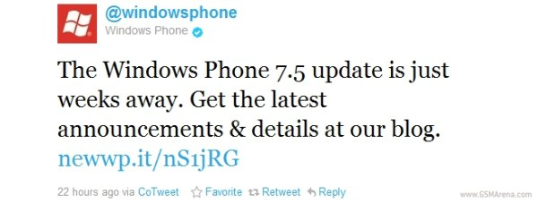 gsmarena 001 Windows Phone Mango update coming in a couple of weeks