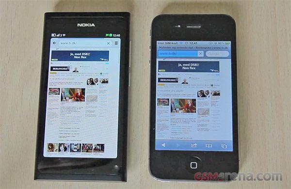 gsmarena 001 Nokia N9 vs iPhone 4 browser speed test [VIDEO]
