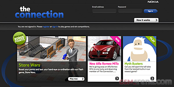 A screenshot of Nokia's new retail staff centered microsite all about the Lumia 800