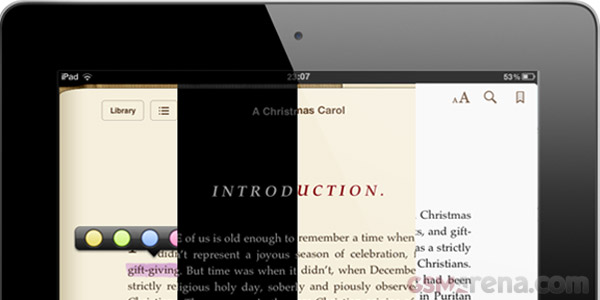trying to show the new features on iBooks in pictorial form can get confusing