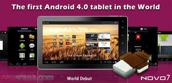 gsmarena 001 NOVO7 is a $99 Android 4.0 ICS tablet with a 7 capacitive screen