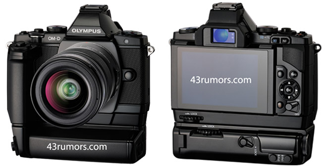the front and back of the E-M5 courtesy of 43Rumors