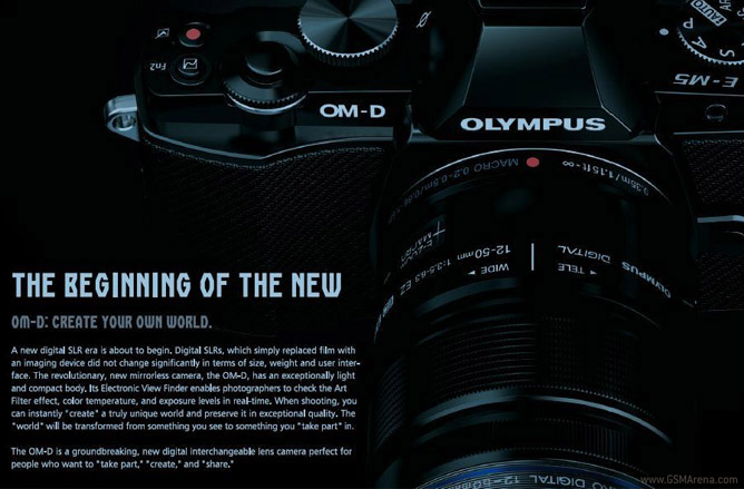 Olympus see the E-M5 as the start of a new era for their 4/3rds DSLRs