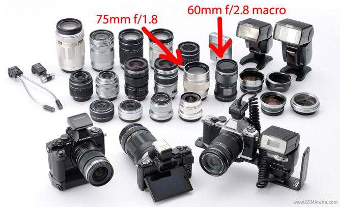 a menagerie of accessories compatible with the E-M5