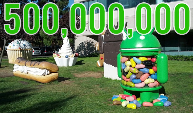 Android reaches 500 million users