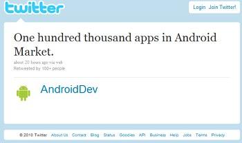 Android Market официально содержит 100 000 приложений Big
