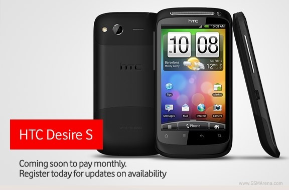 Vodafone UK to offer HTC Desire S, Wildfire S and ChaCha