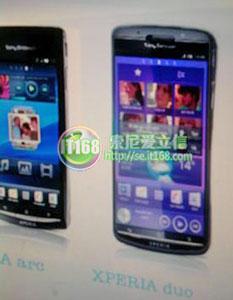 Sony Ericsson Xperia Duo, a dual core SE Xperia Phone ...