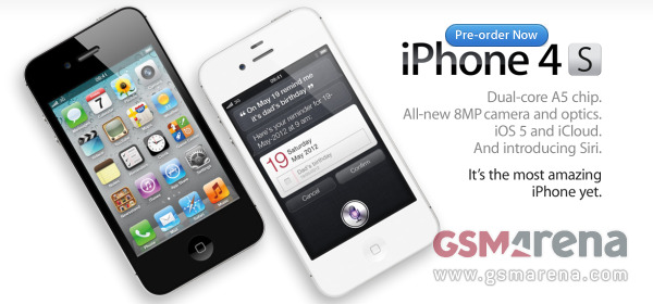 iPhone 4S (SOURCE= GSMArena.com)