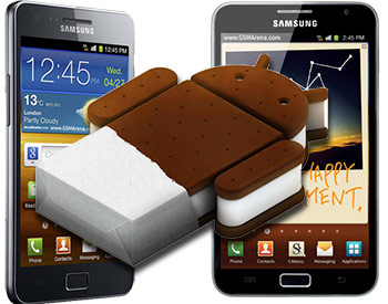 Samsung Galaxy S II and Galaxy Note to get ICS in March