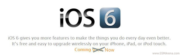 gsmarena 001 Apple iOS 6 starts seeding to iDevices around the globe