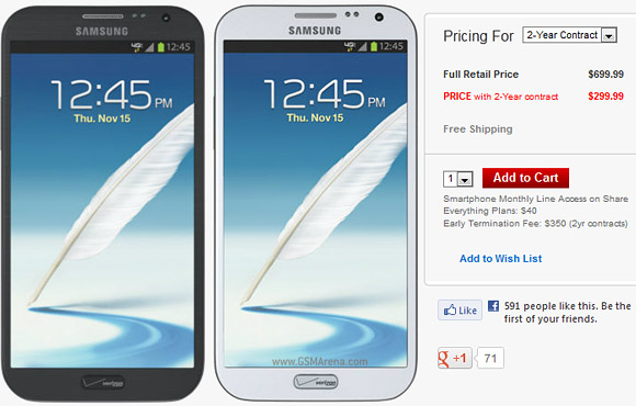 samsung galaxy note ii for verizon goes on sale tomorrow