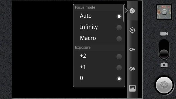 UI Kamera Sony Ericsson XPERIA Play